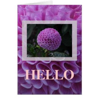 Lavander Dahlia Greeting Card