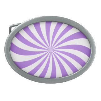 Lavander spiral design belt buckle