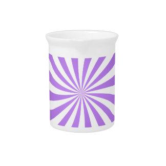 Lavander spiral design beverage pitchers