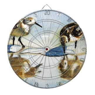 Lavandera 7, pájaro, océano, playa, náutica, arte tabla dardos