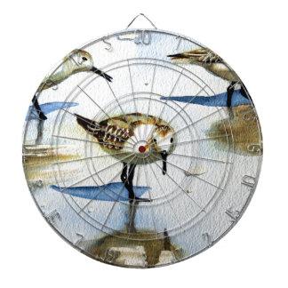 Lavandera 9, pájaro, océano, playa, náutica, arte tablero dardos