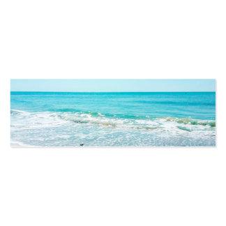 Lavandera tropical de las olas oceánicas de la plantilla de tarjeta de negocio
