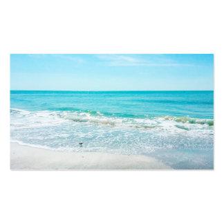Lavandera tropical de las olas oceánicas de la tarjeta de visita