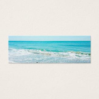 Lavandera tropical de las olas oceánicas de la tarjetas de visita mini