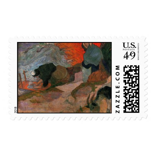 Lavanderas de Paul Gauguin Franqueo