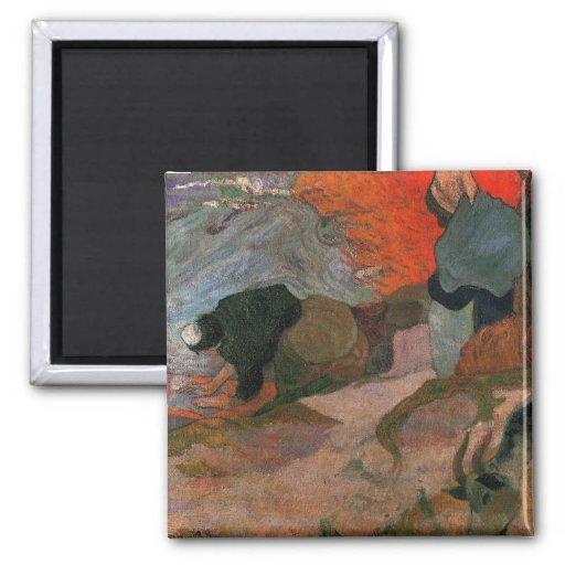 Lavanderas de Paul Gauguin Imanes
