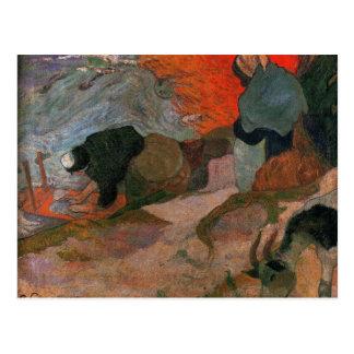 Lavanderas de Paul Gauguin Postal