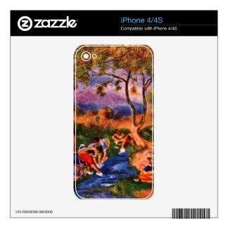 Lavanderas de Pedro Renoir iPhone 4S Calcomanía