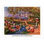Lavanderas de Pierre-Auguste Renoir Tarjeta Postal
