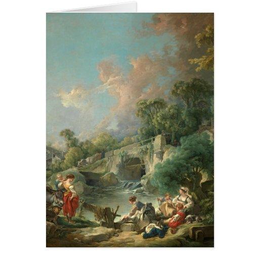 Lavanderas - François Boucher Tarjeta De Felicitación