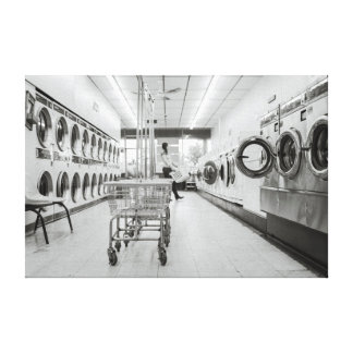 Lavandería Impresión En Lona Estirada