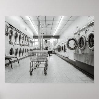 Lavandería Póster