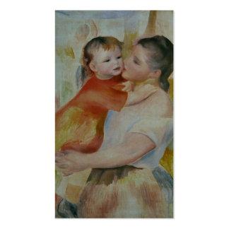 Lavandière à l'enfant - Pierre-Auguste Renoir Business Card