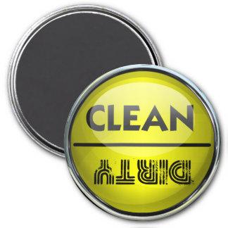 Lavaplatos limpio o sucio imán de nevera
