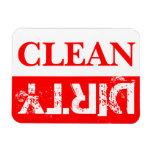 Lavaplatos limpio y sucio rojo imán de vinilo