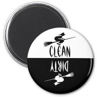 Lavaplatos sucio limpio del palo de escoba de la imán redondo 5 cm