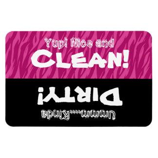 Lavaplatos sucio limpio X3012 de la cebra rosada Imán Flexible