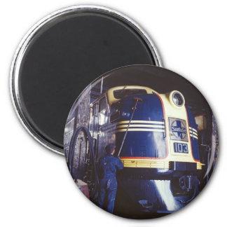 Lavar la locomotora imán redondo 5 cm