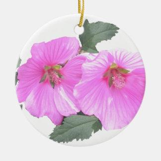 Lavatera or Tree mallow Products Ceramic Ornament