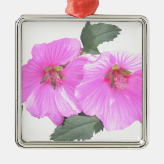 Lavatera or Tree mallow Products Metal Ornament