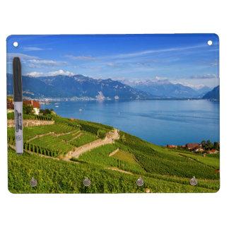 Lavaux region, Vaud, Switzerland Dry Erase Board With Keychain Holder
