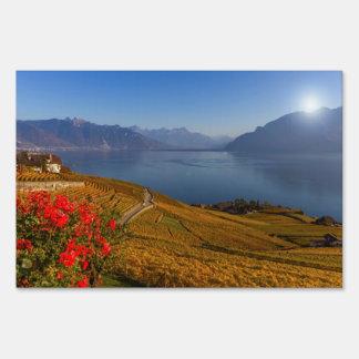 Lavaux region, Vaud, Switzerland Sign