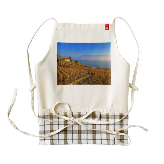 Lavaux region, Vaud, Switzerland Zazzle HEART Apron