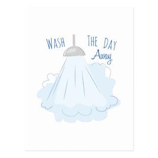 Lave el día ausente postal