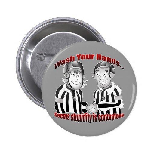 Lave su botón de las manos