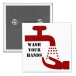Lave su botón de las manos pin
