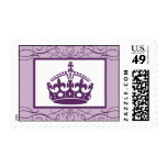 Lavend de la corona/de los remolinos de la púrpura sello