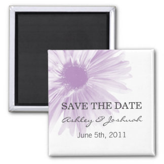 Lavend Flower Design Wedding Save The Date Magnets