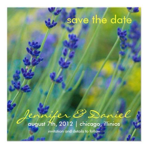 Lavendar • Ahorre la invitación de la fecha
