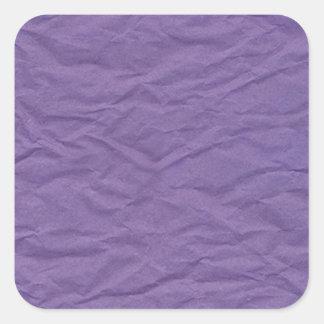 Lavendar arrugó la textura de papel pegatina cuadrada