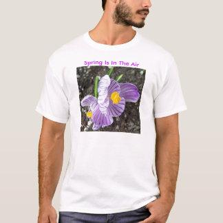 Lavendar Crocus, Spring Is In The Air T-Shirt