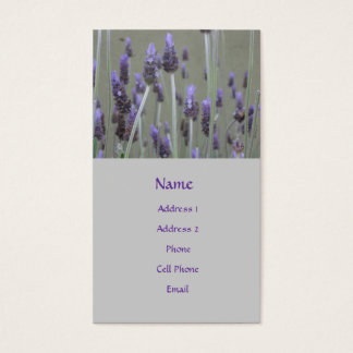lavendar flowers - business card
