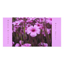 Lavendar Flowers Card