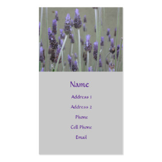 lavendar flowers - Double-Sided standard business cards (Pack of 100)