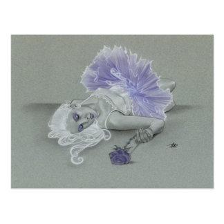 Lavendar gothic ballerina rose Postcard