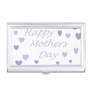 Lavendar Happy Mothers Day Business Card Cases
