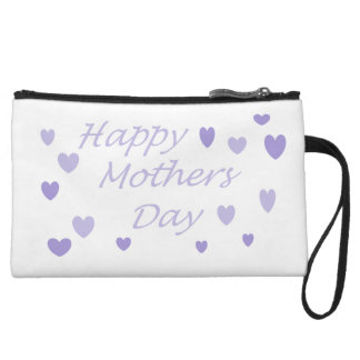 Lavendar Happy Mothers Day Wristlet Wallet