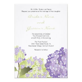 Lavendar Hydrangea Wedding Invitation