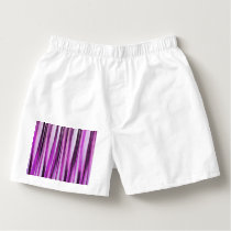 Lavendar, Iris and Grape Stripy Pattern Boxers