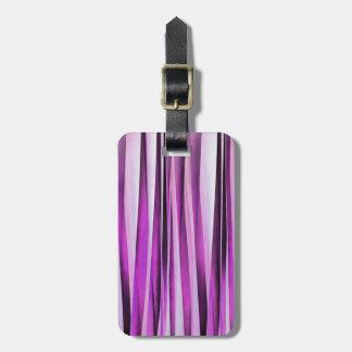 Lavendar, Iris and Grape Stripy Pattern Luggage Tag