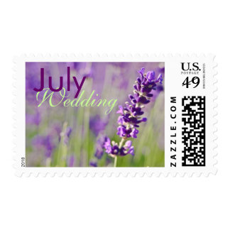 Lavendar • July Wedding Stamp