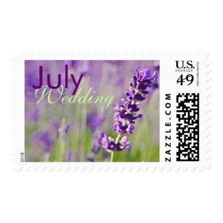 Lavendar • July Wedding Stamp