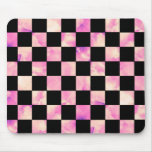 Lavendar Marble Checkerboard Mouse Mat