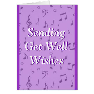 Lavendar Musicnotes- customize any occasion Card