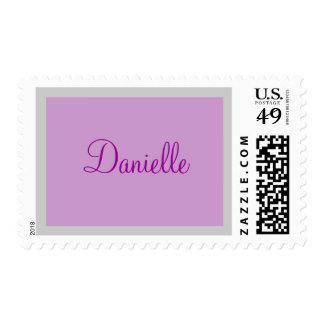 Lavendar name stamp
