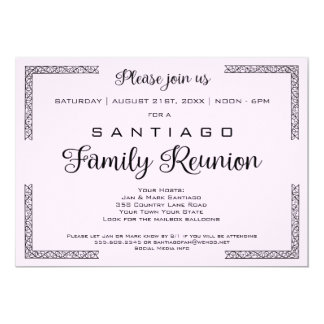 Lavendar or Any Color Family Reunion Invitation